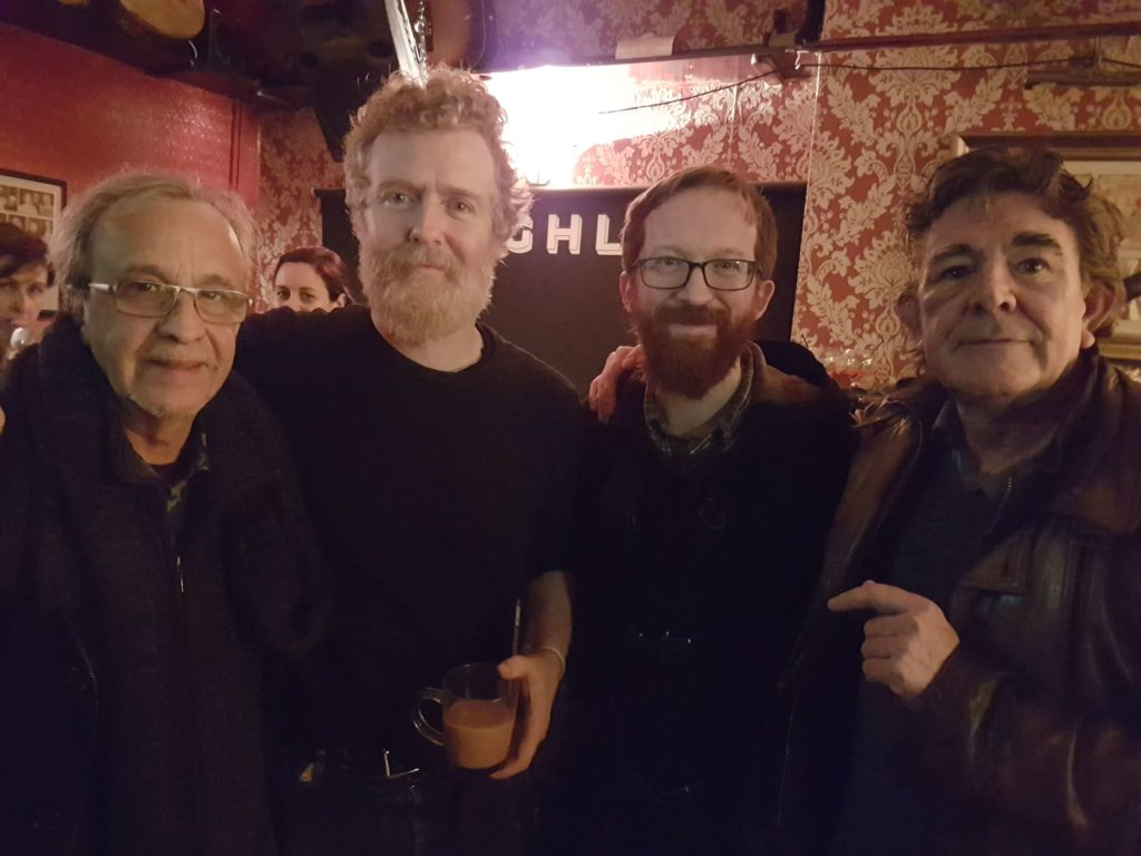 Javier Mas, Glen Hansard, Niall Connolly and Pat Conway.