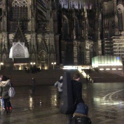 Outside the Dom in Cologne very early this morning.